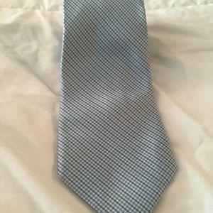 Tommy Hilfiger Silk Necktie Light Blue W Green Men